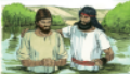 View Jesus is baptized (Mark 1:4-11)